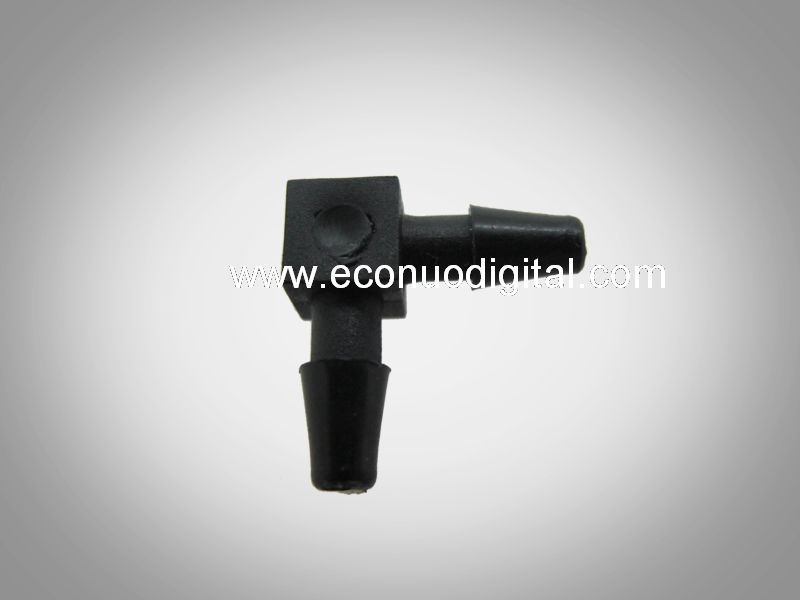 E1236 AKN-W4-16 two-way black connector Ø4