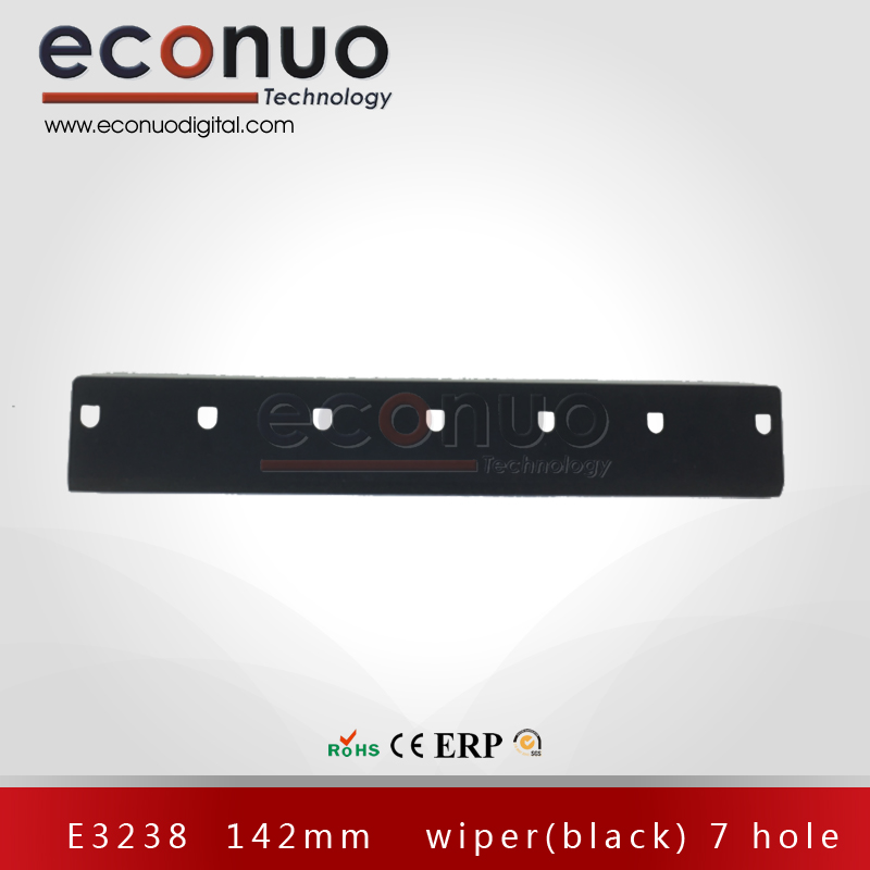 E3238  142mm   wiper(black) 7 hole E3288 142MM 刮片(黑)7孔